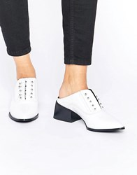 Sol Sana Claire Bar White Patent Leather Mules White Patent Leather