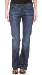 7 For All Mankind Boot Cut Stretch Jeans Nouveau New York Dark
