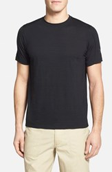 Men's Ibex 'W2' Merino Wool Blend Crewneck T Shirt Black