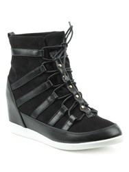 Daniel Woldview Sporty Wedges High Top Trainers Black