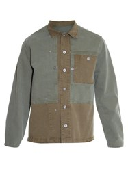 Maison Martin Margiela Distressed Hem Lightweight Jacket Green
