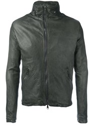 Giorgio Brato Zipped Leather Jacket Green