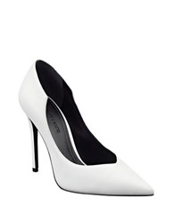 Kendall Kylie Abi Suede Stiletto Pumps White
