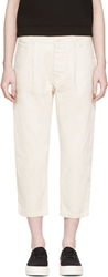 Studio Nicholson Off White Wide Leg Nakano Trousers
