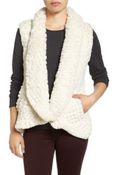 Love Token Women's Faux Fur Vest Ivory