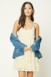 Forever 21 Cami Lace Swing Dress Cream