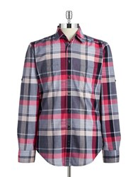 Hugo Boss Plaid Sportshirt Dark Blue