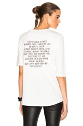 Adaptation Roll Sleeve Tee In White