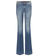 7 For All Mankind Charlize Flared Jeans Blue