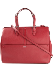 Giorgio Armani Panelled Shopper Tote Red