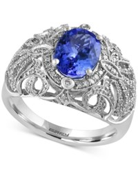 Effy Collection Tanzanite Royale By Effy Tanzanite 1 3 4 Ct. T.W. And Diamond 1 3 Ct. T.W. Ring In 14K White Gold