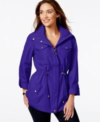 Jm Collection Hooded Solid Anorak Jacket Only At Macy's Bright Blue