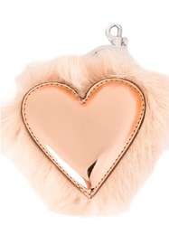 Stella Mccartney Heart Shape Keyring Pink And Purple