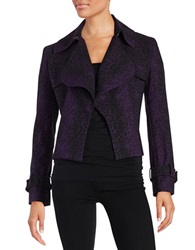Anne Klein Flyaway Blazer Black Purple