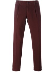 Incotex Slim Fit Trousers Red
