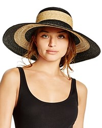 Bettina Two Tone Floppy Hat Black Natural