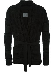 Laneus Wrap Cardigan Black