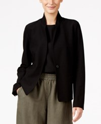 Eileen Fisher One Button Blazer Black
