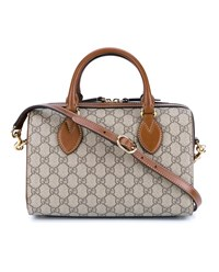 Gucci Monogramme Boston Bag Beige Brown Tan