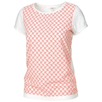 Fat Face Cotton Broderie T Shirt White Apricot