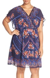 Plus Size Women's Sangria Print Blouson Dress