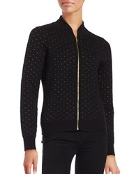 Calvin Klein Quilted Knit Cardigan Black