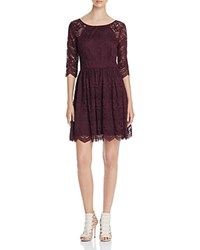 Cupcakes And Cashmere Geneva Scallop Lace Dress Oxblood