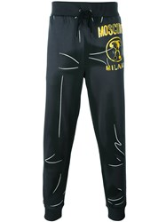 Moschino Question Mark Print Track Pants Grey