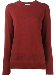 Vince Crew Neck Jumper Red
