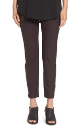 Eileen Fisher Petite Women's Stretch Crepe Ankle Pants Clove