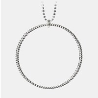 Pernille Corydon Big Twisted Necklace Silver