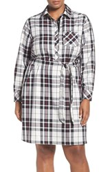 Foxcroft Plus Size Women's Wrinkle Free Tartan Shirtdress