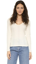 Edith A. Miller Deep V Tee Natural
