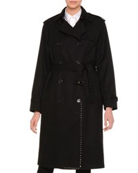 Valentino Rockstud Double Breasted Trenchcoat Black