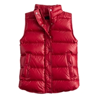 J.Crew Shiny Puffer Down Vest Roasted Pepper