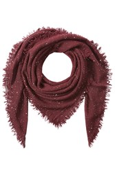 Faliero Sarti Scarf With Virgin Wool Silk And Cashmere Red
