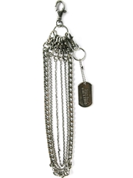 Jean Paul Gaultier Vintage Dog Tag Chain Key Holder Metallic