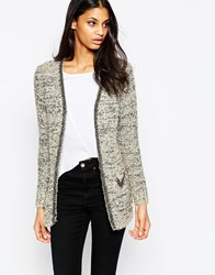 Jovonna Clio Cardigan With Chain Trim Grey