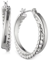 Nine West Twisted Hoop Earrings Silver