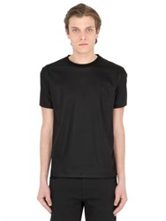 Jil Sander Leather Effect Japanese Cotton T Shirt