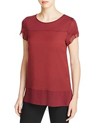 French Connection Polly Plains Raw Edge Tee Zinfandel