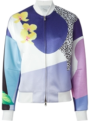 3.1 Phillip Lim Dropped Shoulder Bomber Multicolour