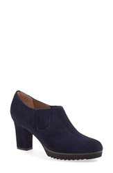 Anyi Lu 'Natalie' Ankle Bootie Women Midnight Blue Suede