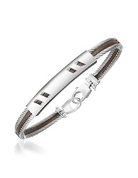 Forzieri Di Fulco Stainless Steel Bracelet W Plaque