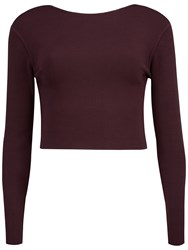 Ted Baker Cailie Cropped Top Dark Red
