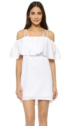 Amanda Uprichard Kiara Dress White Cotton