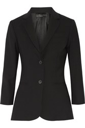 The Row Schoolboy Stretch Wool Blend Blazer Black