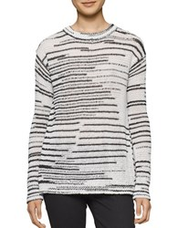 Calvin Klein Jeans Space Dye Crewneck Sweater Black White