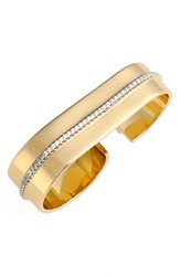 Rachel Zoe 'Melina' Pave Two Finger Ring Gold