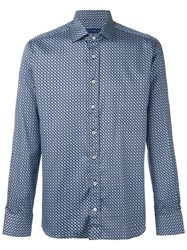 Etro Geometric Print Shirt Blue